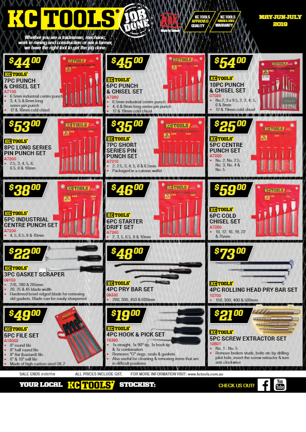 KC Tools catalogue
